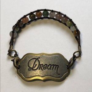 Jewelry - Leather And Bead Dream Bracelet